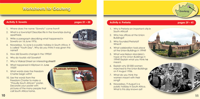 Learn About South Africa - Worksheets